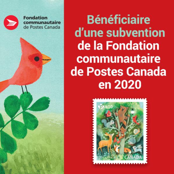 Merci à la Fondation communautaire de Postes Canada pour son soutien