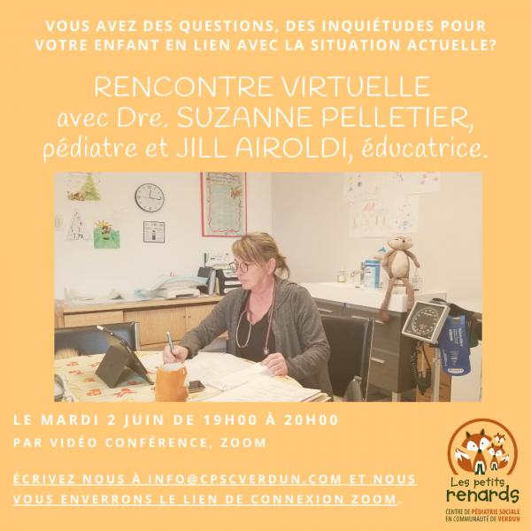 Les Petits Renards_cpsc Verdun_Rencontre virtuelle_Suzanne Pelletier