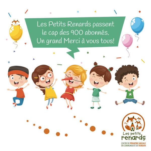 Les Petits Renards passent le cap des 900 abonnées sur Facebook.